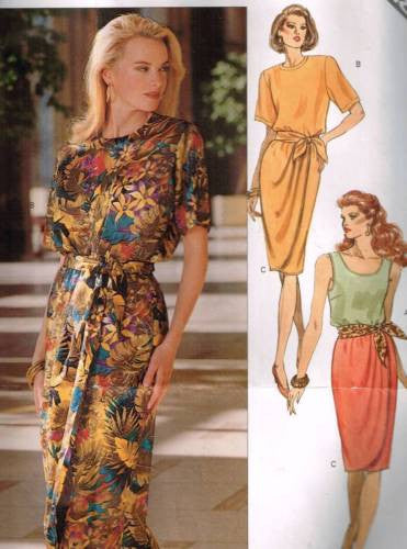 4910 Sewing Pattern Butterick Ladies Mock Wrap Skirt Top Tank Top 14 16 18