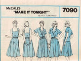 7090 Sewing Pattern Vintage McCall's Ladies Camisole Jacket Skirt 10