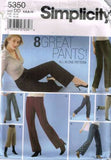 *5350 Sewing Pattern Ladies Pants Various Lengths 4 6 8 10