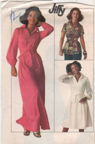 7617 Sewing Pattern Vintage Ladies Dress and Blouse 12