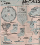 *4954 Sewing Pattern McCall's Christmas Bunnies Ornaments Stockings Wallhanging