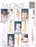 *2531 Sewing Pattern McCall's Ladies Coat Jacket Top Pants Skirt Shawl 6 8 10