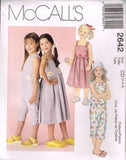 *2642 Sewing Pattern Girls Dress Pants and Top 2 3 4