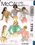 7776 Sewing Pattern McCall's Ladies Blouse with Tucks and Ruffles 10