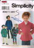 7308 Sewing Pattern Butterick Girls Fleece Jacket 5 6 7 8