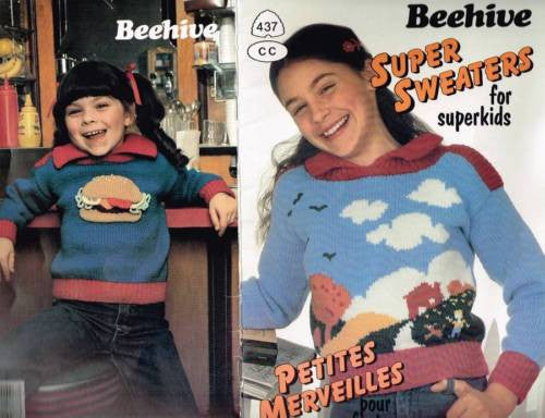 "437 Knit Patterns ""Super Sweaters"" Kids Astra Sayelle Designs"