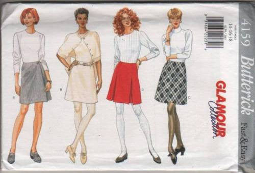 4159 Sewing Pattern Butterick Ladies Skirt Skirts 14 16 18