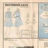 4210 Sewing Pattern Vintage Butterick Ladies Skirt Blouse Jacket 10