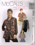 8464 Sewing Pattern McCall's Ladies Color Blocked Shirt Small (8-10)