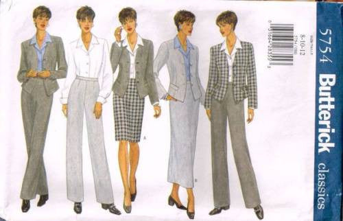 *5754 Sewing Pattern Butterick Ladies Pants Skirt Shirt Jacket 8 10 12