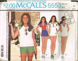 *5553 Sewing Pattern Ladies Tennis Top and Shorts 10