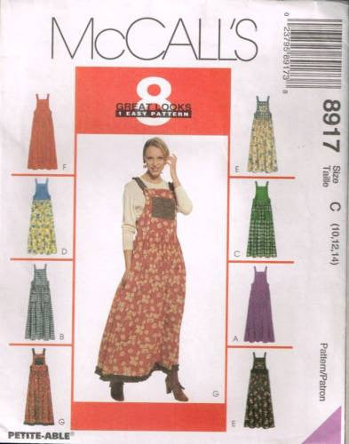8917 Sewing Pattern McCall's Loose Fitting Jumper 10 12 14