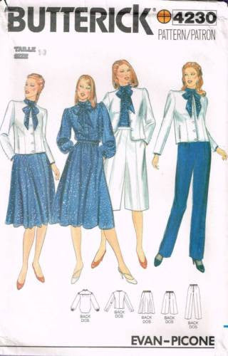 4230 Sewing Pattern Vintage Butterick Ladies Skirt Jacket Pants Blouse 10