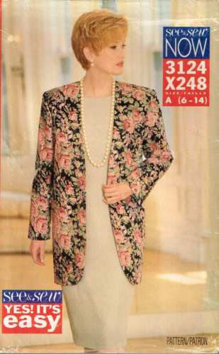 *3124 Sewing Pattern Ladies Dress and Jacket 6 8 10 12 14