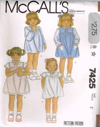 7425 Sewing Pattern McCall's Girls Dress w Yoke 1