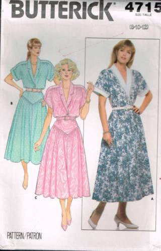 4715 Sewing Pattern Ladies Pullover Dress with Yoke Front Skirt 8 10 12