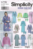 *5778 Sewing Pattern Ladies Robe Robes Bed Jacket Slippers XS S M