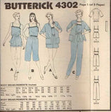 4302 Sewing Pattern Vintage Butterick Ladies Jumpsuit Jacket 6 8 10