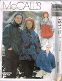 7311 Sewing Pattern McCall's Unisex Jacket S M L