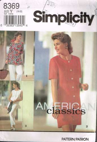 8369 Sewing Pattern Simplicity Top Pants and Shorts 18 20 22