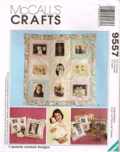 9557 Sewing Pattern McCall's Memory Package Quilt Pillow