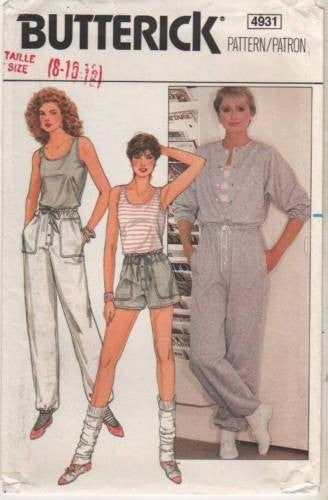 4931 Sewing Pattern Ladies Jumpsuit Shorts Pants Tank Top 8 10 12