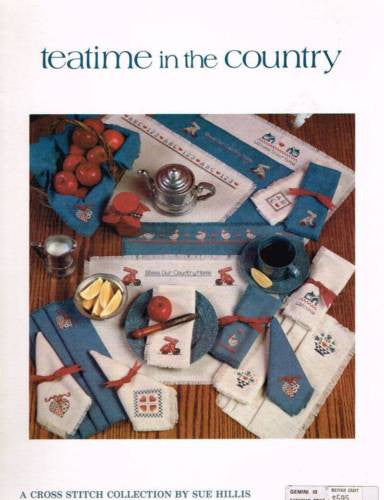 "*Cross Stitch Pattern ""Teatime in the Country"" Placemats Clothes Napkins"