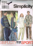 9063 Sewing Pattern Unisex Pull on Pants and Hooded Top XS S M