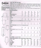 *5484 #Simplicity Sewing Pattern Easy Girls Tops Pants & Skirts 7 8 10