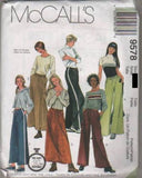 9578 Sew Pattern McCall's Ladies Easy 90 Minute Loose Pants and Skirts M(12-14)