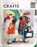 "*606 / 9621 Sewing Pattern McCall's ""Fruitfull Hands"" Snowbirds Snowman Vacation"