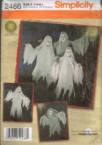 *2486 Sewing Pattern Teens & Adult Ghost Costume S-M M-L