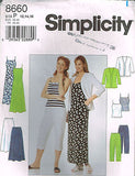 8660 Sewing Pattern Ladies Camisole Dress Camisole Pants Jacket 12 14 16