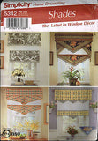 *5342 Sewing Pattern Shades Window Treatments Valance