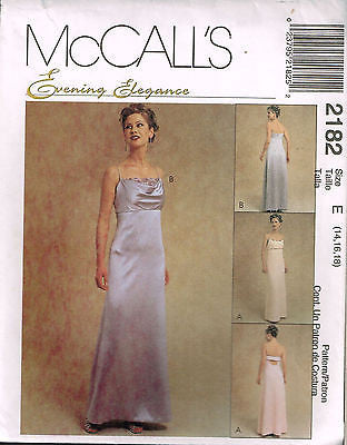 *2182 Sew Pattern Ladies Gown Wedding Bridal Fancy Back choose 8 10 12 or 14 16 18