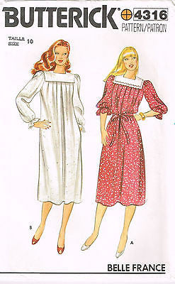 4316 Sewing Pattern Vintage Ladies Mu-Mu Smock Dress Choose Size 10 or 12