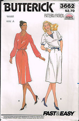3662 Sewing Pattern Vintage Butterick Ladies Dress 8 10 12