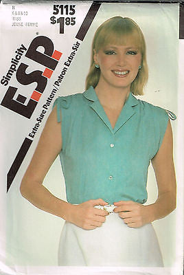 *5115 Sewing Pattern Ladies Blouse 6 8 10