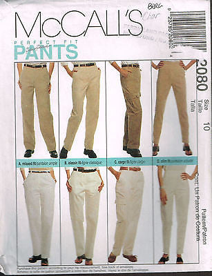 "*2080 Sew Pattern McCall's Ladies Pants ""Perfect Fit"" w Variations 10 or 14"