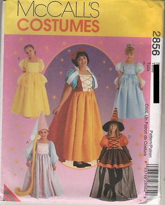 2856 SewPattern Costume Girls Storybook Snow White Rapunzel 4-5-6 or 7-8-10 or 10-12-14