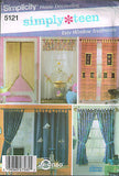 5121 Sewing Pattern Window Treatments Tab Curtains