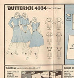 4334 Sewing Pattern Vintage Ladies Asymmetrical FrontChoose size 8 or10 or12or14