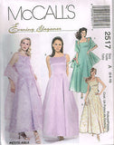 *2517 Sewing Pattern McCall's Ladies Evening Gown Crinoline Wedding Choose Sizes