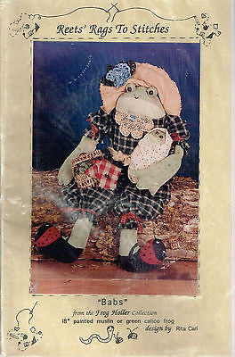 "Sewing Pattern by Frog Holler Collection ""Babs"" 18"" with Baby"