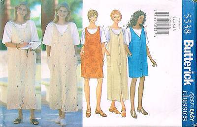 5538 Sewing Pattern Butterick Jumper & T-Shirt 14 16 18