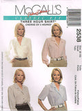 *2538 Sewing Pattern McCall's Ladies Blouse Choose Sizes 8-10 or 12-14