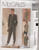 *2370 Sew Pattern McCall's Non Stop Wardrobe Jacket Top Skirt Pants Choose Size