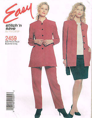 *2459 Sewing Pattern McCall's Ladies Easy Jacket Pants Skirt Top Choose a Size