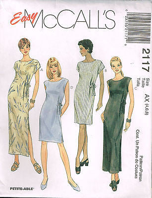 *2117 Sewing Pattern Ladies Dress w Side Tie 10 12 14 or 16 18 20 or 4 6 8