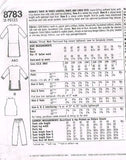 8783 Sewing Pattern Tunic Top Pants Vest 26 28 30 32